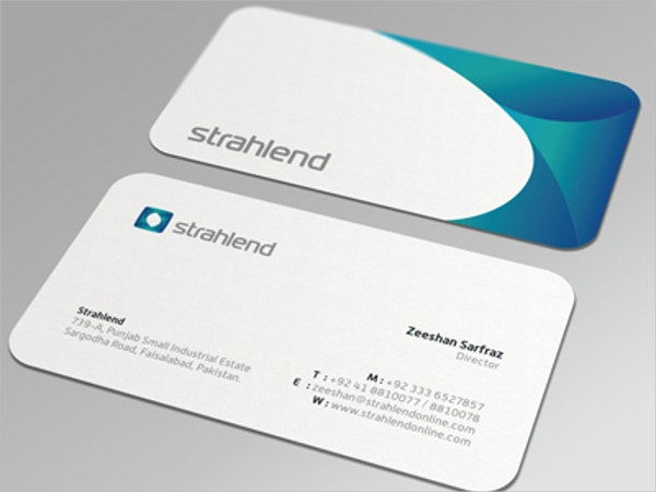 Industry Die Cut Business Card Template