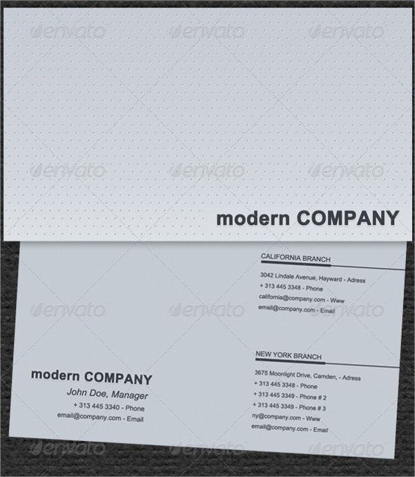 Embossed Business Card with Dots