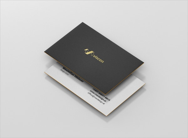 branding embossed business card