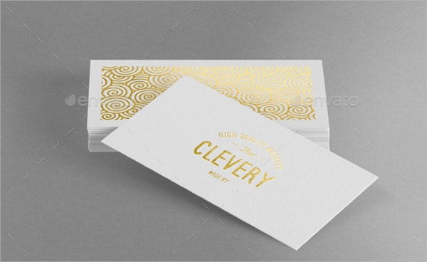 Showcase Embossed Business Card