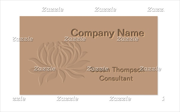 embossed lotus flower business card