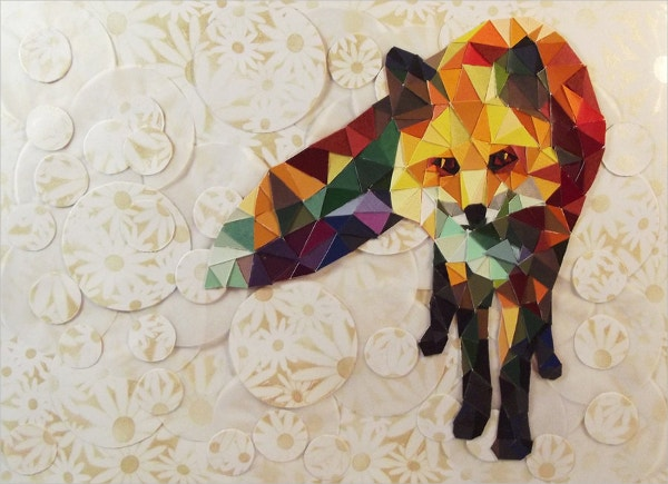 diamond fox paper art