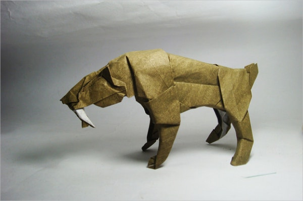 Paper Art of Smilodon