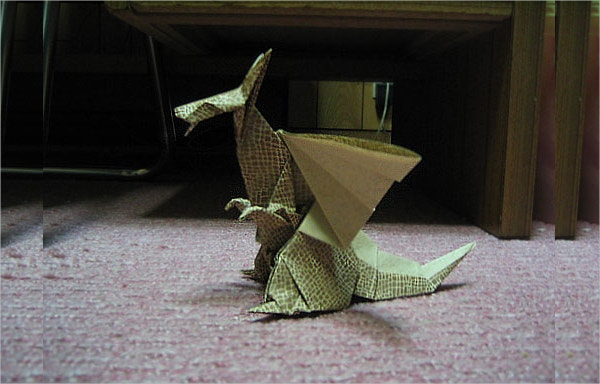 Dragon of Origami Paper Art