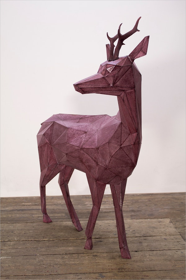 deer sculpture paper art