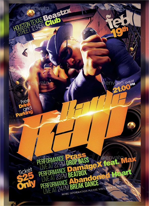 22 hip hop flyer templates in word psd publisher free premium