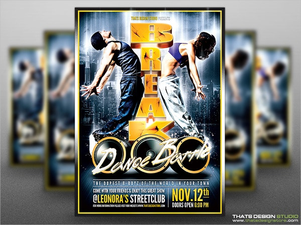 Break Dance Battle Flyer Template
