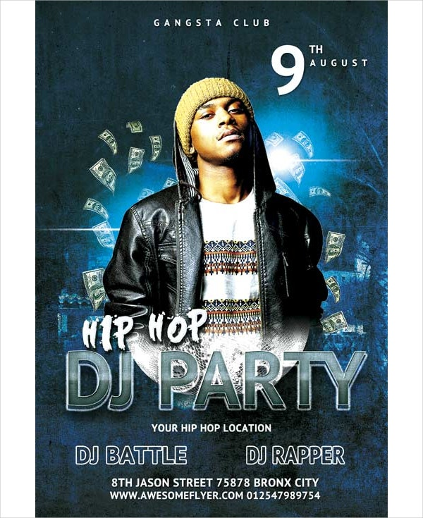 Free Hip Hop Battle DJ Party Flyer