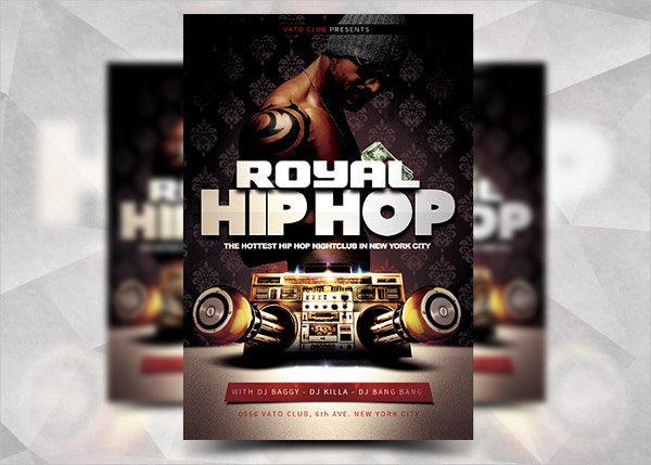 Royal Hip Hop Flyer Template
