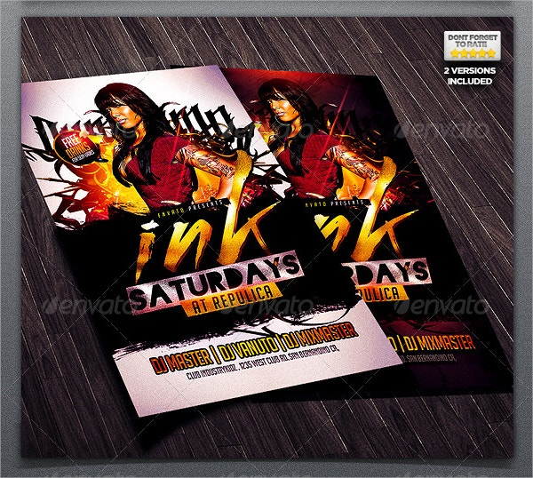 Tattoo Hip Hop Flyer