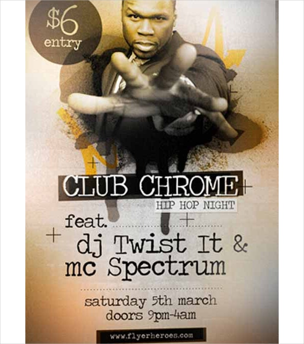 Chrome Hip Hop Free Flyer