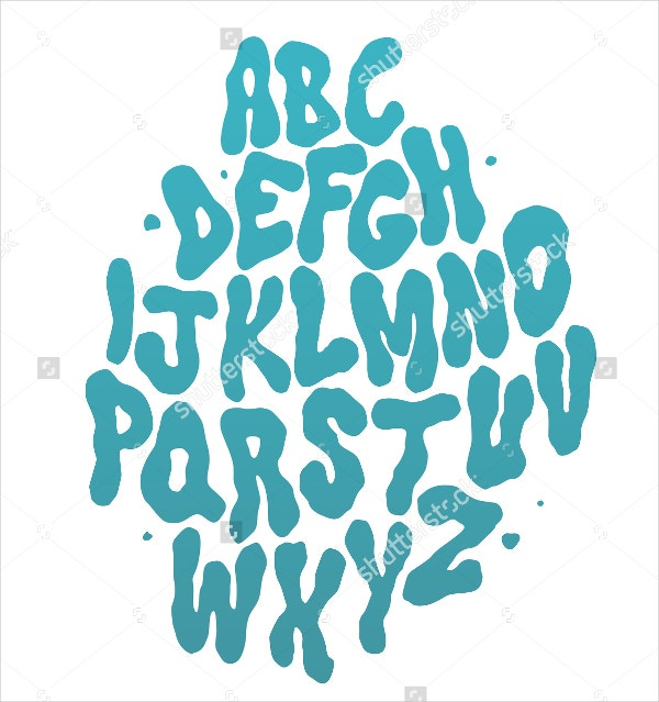 Abstract Water Font