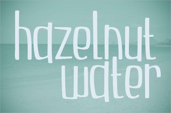 Hazelnut Water Font
