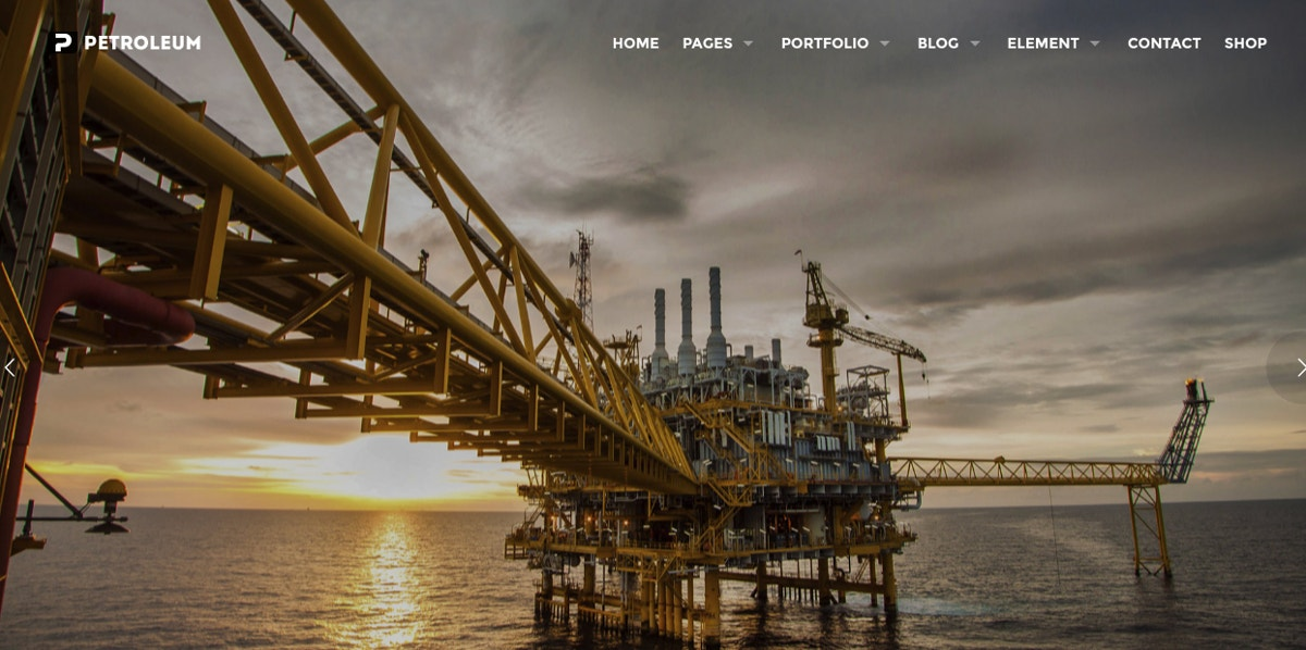 PetroChemicals WordPress Theme $59