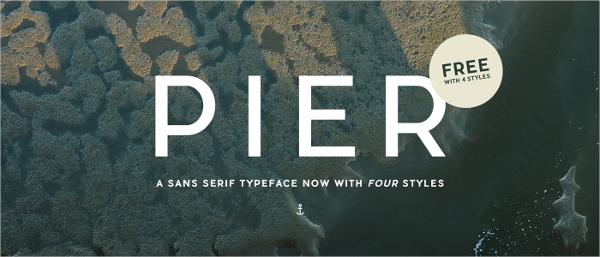 Pier Sans Water Fonts