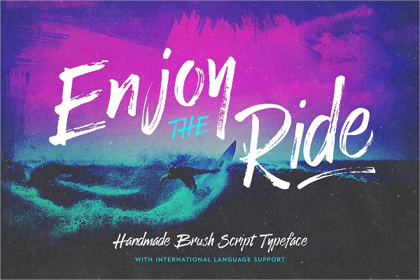 Enjoy the Ride Typeface Water Font