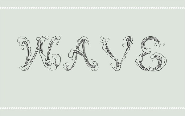 Free Wave Water Font