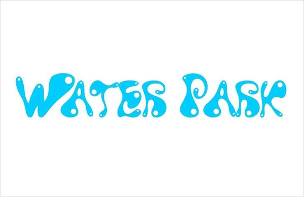 Water Park Water Font