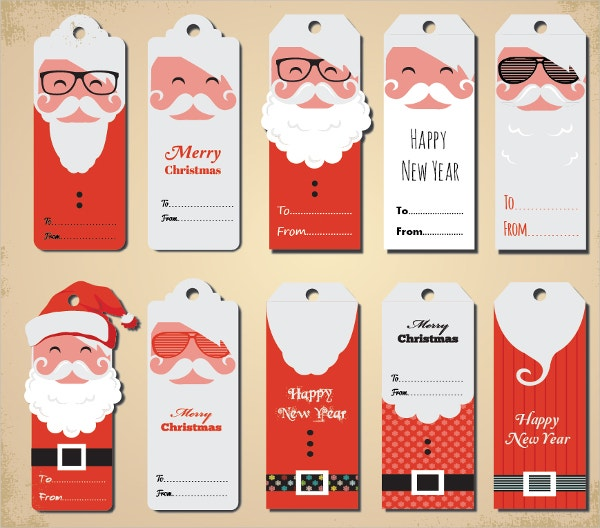 Set of 6 Large Vintage Style /'Official Santa Delivery/' Christmas Gift Tags