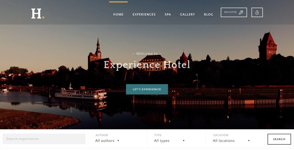 Booking & Reservation WordPress Theme $52