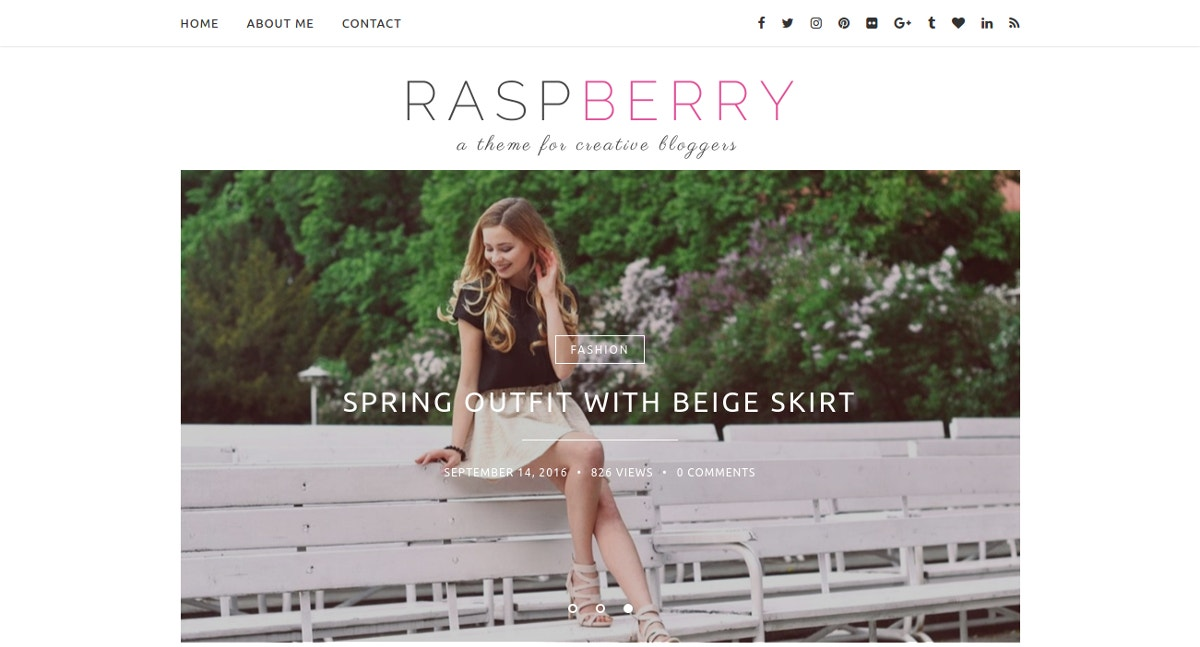 Lifestyle Blog Shop WordPress Theme $39