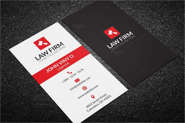 Classic Law Business Card Template