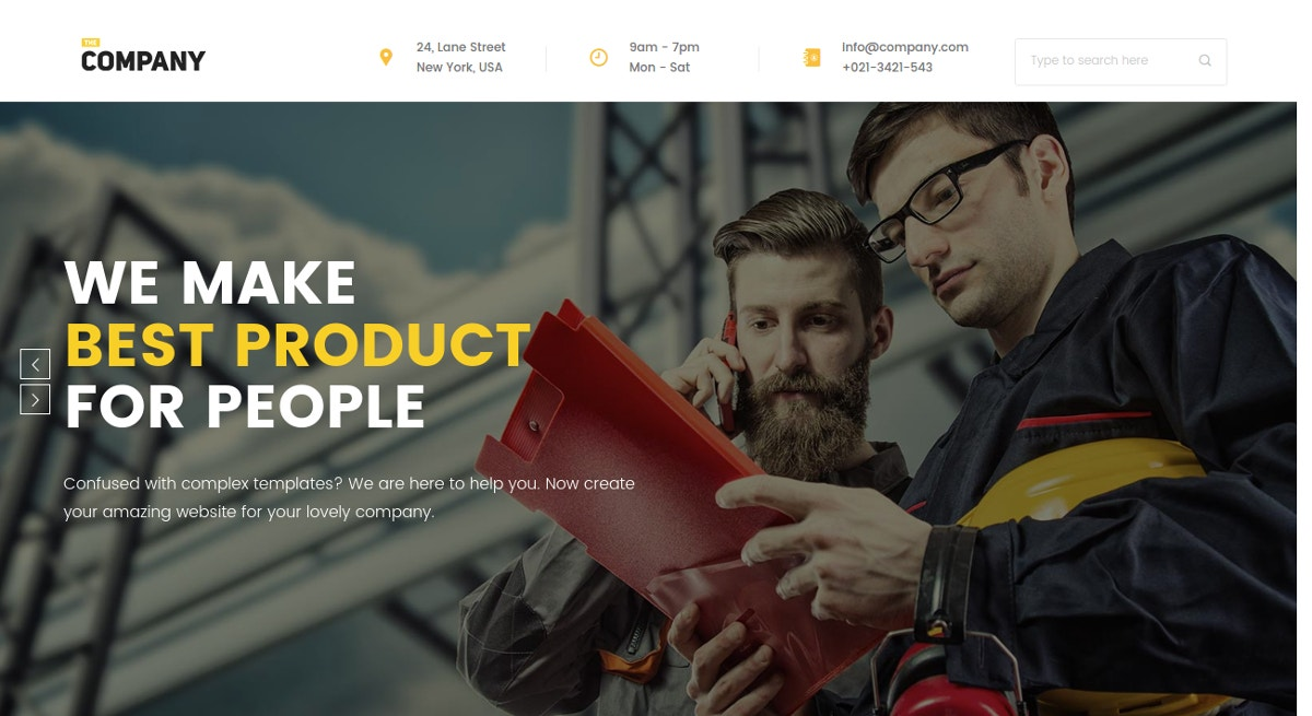 Business & eCommerce WordPress Theme $54