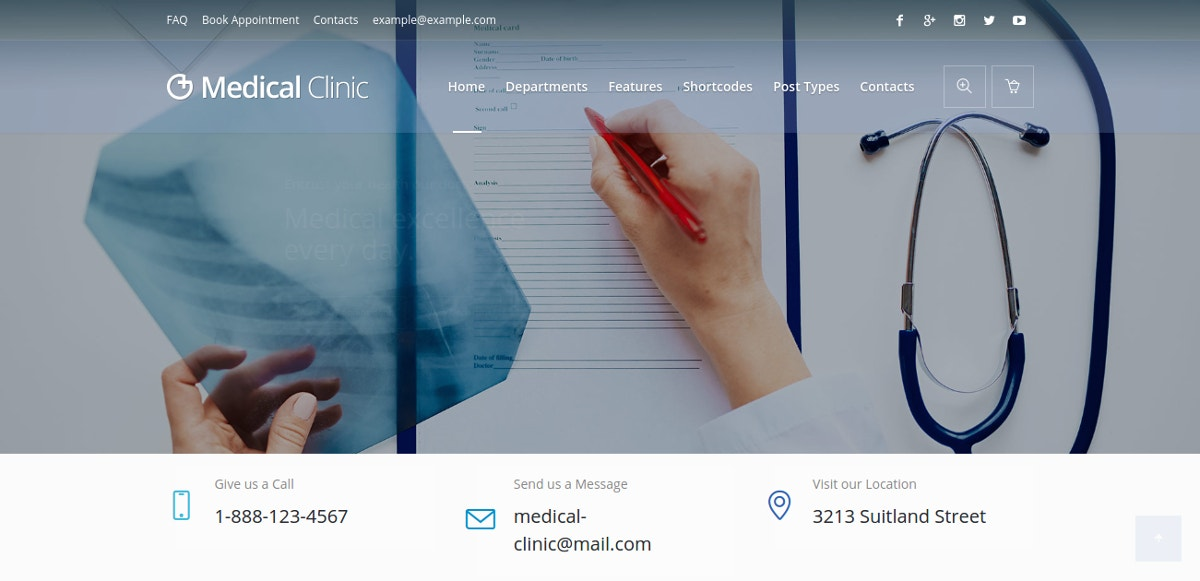 Medical, Hospital & Clinic WordPress Theme $59