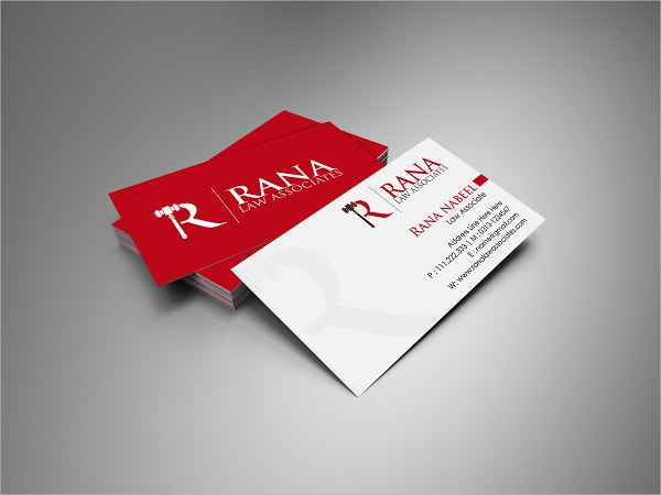 Law Business Card Template