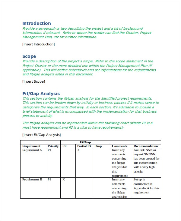 Gap analysis template 9 free word excel pdf document for Fit gap analysis template xls