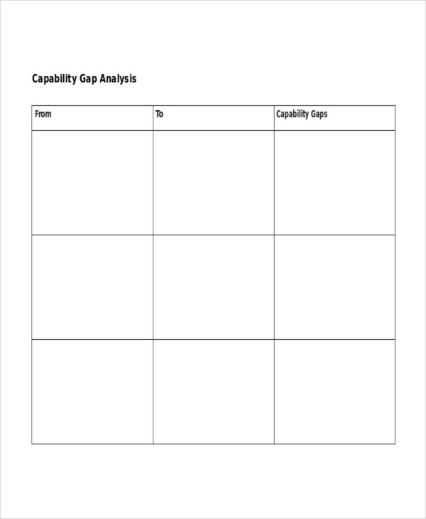 Gap analysis template 9 free word excel pdf document for Capabilities analysis template