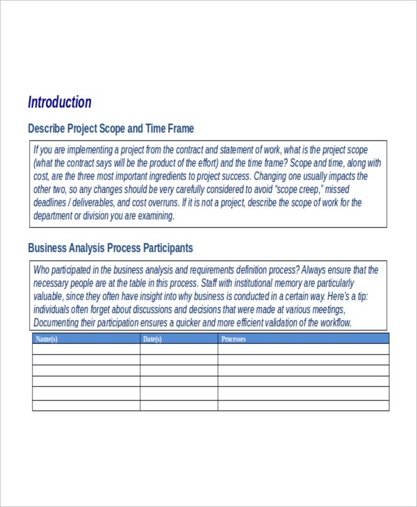 Gap Analysis Template   Free Word Excel Pdf Document