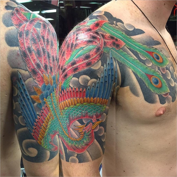 Cool Phoenix Tattoo