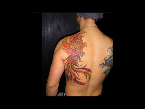Designed Phoenix Tattoo