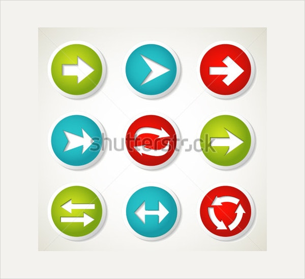 Colorful Arrow Button