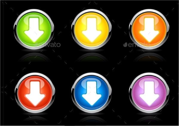 Vector Color Arrow Buttons