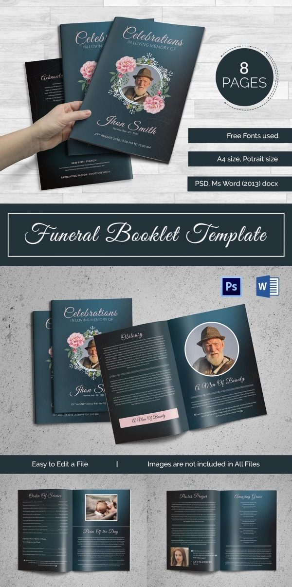 19 funeral booklet templates psd ai vector eps free
