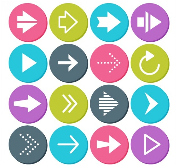 Circular Arrow Icon Buttons