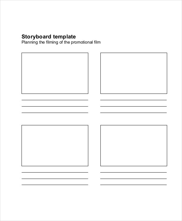 Film Storyboard Template