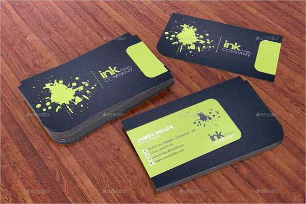Splash Ink Spot UV Business Card