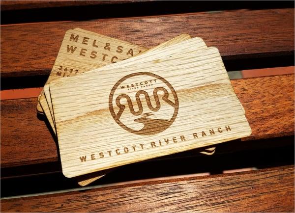 creative wood business card
