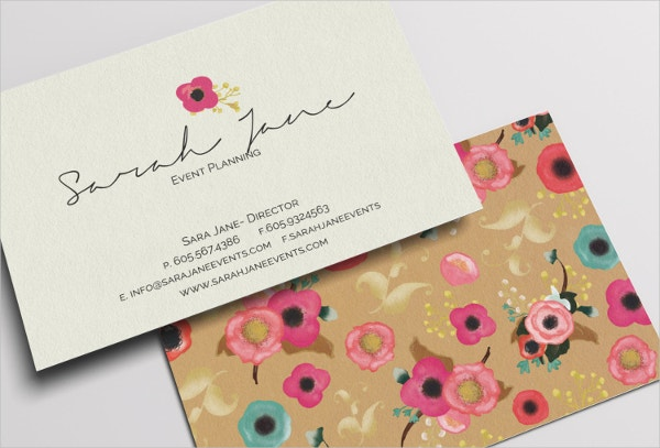 Personalized Floral Business Card