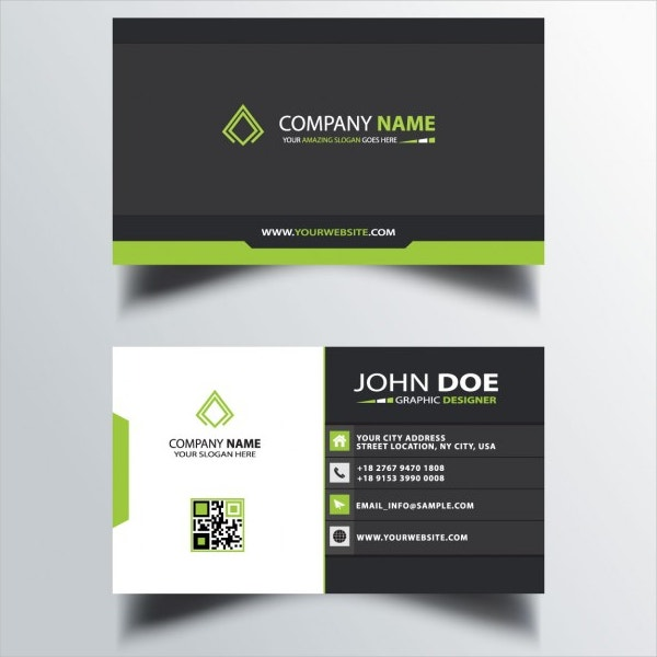 22 business card design free psd eps illustrator format black and green business card friedricerecipe Images