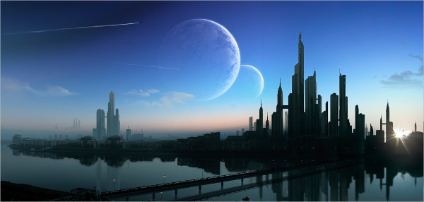photoreal matte painting