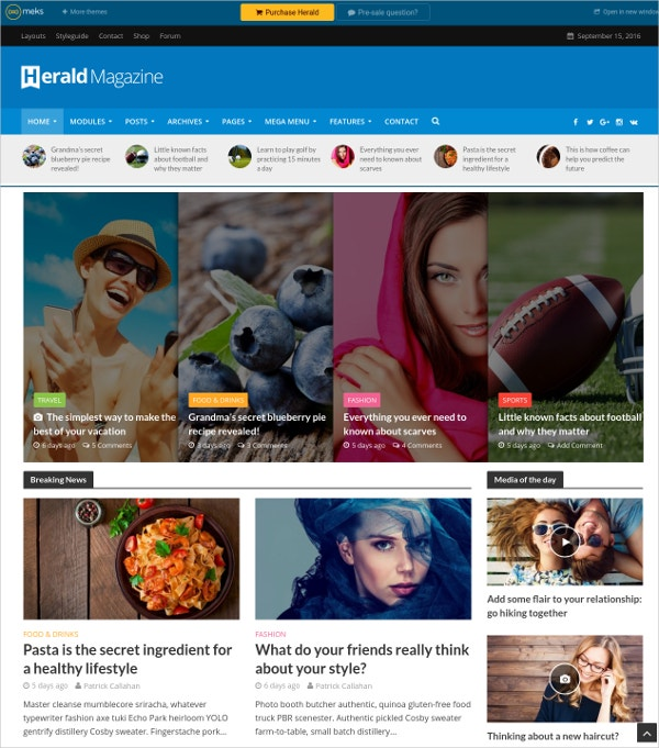 Video Blog & Magazine Portfolio WordPress Theme $49