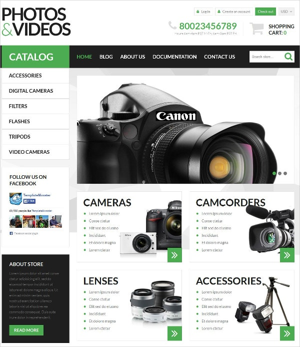 Video Blog Technologies Shopify Theme $139