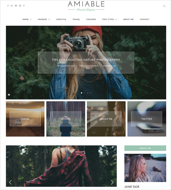 Lifestyle Blogging WordPress Theme $27