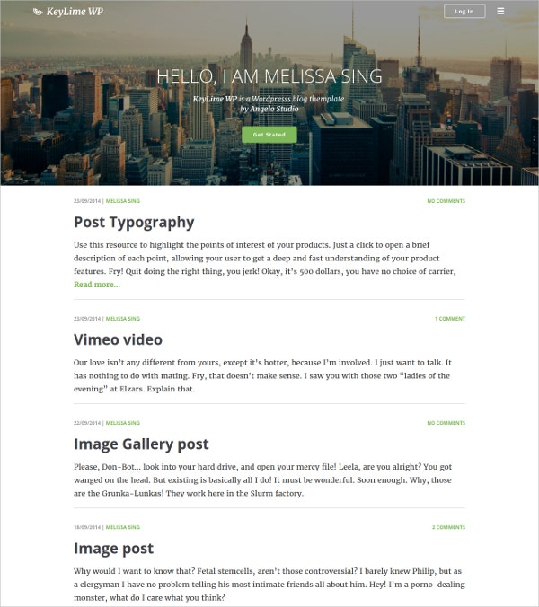 WordPress Video Blog & Parallax Theme $38