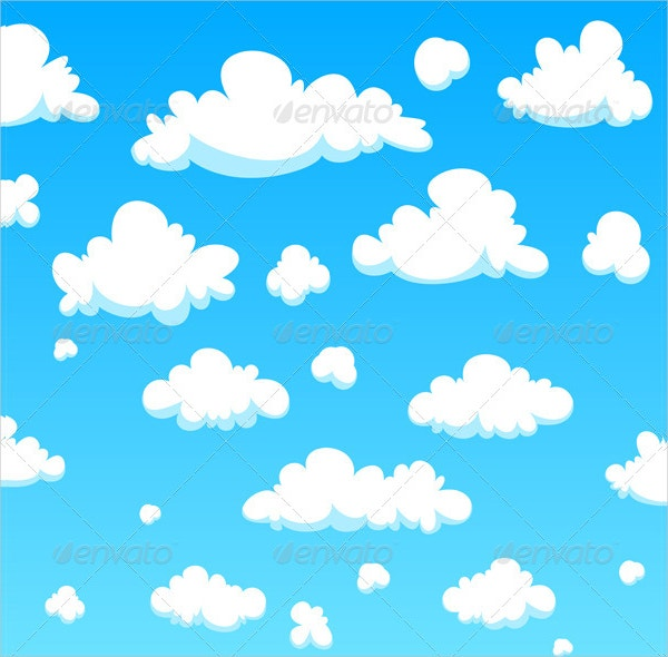 cartoon clouds pattern