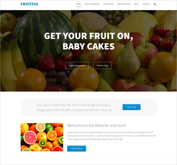 Free Beautiful Fruits Concrete5 Theme